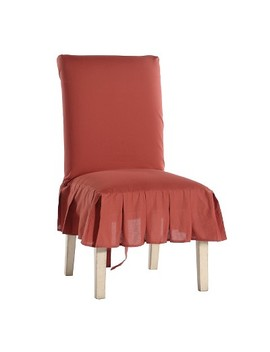 Cotton Duck Pleated Dining Chair Slipcover by Classic Slipcovers