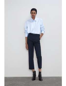 RÖhrenhose Mit GÜrtel Bundfalten Hosen Damen by Zara