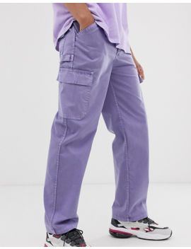 Reclaimed Vintage Overdye Violet Cargo Pants by Reclaimed Vintage