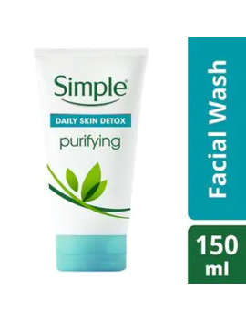 Simple Daily Skin Detox Purifying Facial Wash 150ml by Superdrug