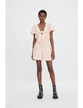 Tie Playsuit Dressestrf by Zara