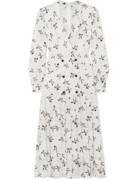 Button Embellished Silk Jacquard Midi Dress by Alessandra Rich