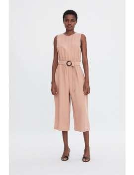 Long Belted Jumpsuit Dressestrf by Zara