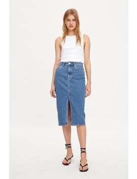 Denim Midi Skirt Skirts by Zara