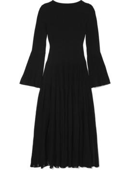 Ribbed Wool Blend Maxi Dress by Alaïa