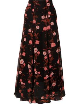 Floral Print Silk Georgette Maxi Skirt by Giambattista Valli