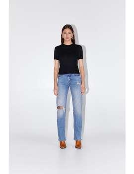 Maglietta Con Collo Leggermente Alto Visualizza Tutto Magliette Donna by Zara