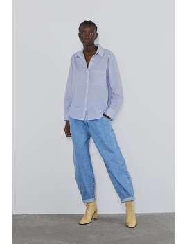Camicia In Popeline Con Taschino Camicie Camicie by Zara