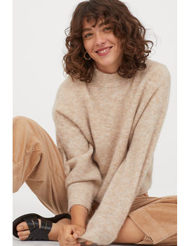 Gerippter Pullover Aus Wollmix by H&M