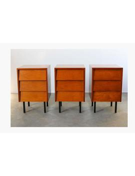Chest Of Drawers / Night Stands / Dresser By Florence Knoll For Knoll Teak Black Minimalist Mid Century Modern Vintage by Etsy