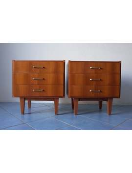 60s Bedside Table 2 Set * Gdr Design Veb Llona Ii * Mid Century * Small Dresser * Vintage by Etsy