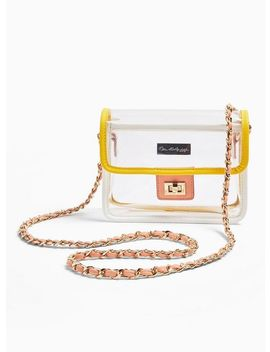 Yellow Pastel Transparent Cross Body Bag by Miss Selfridge