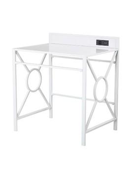 Dullahan Desk With Usb White   Aiden Lane by Aiden Lane