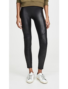 Quilted Faux Leather Leggings by Spanx