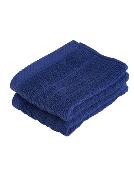 Wilko Navy Face Cloths 2 Pack Wilko Navy Face Cloths 2 Pack by Wilko