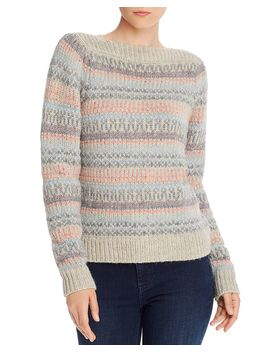 Boat Neck Fair Isle Sweater   100% Exclusive by Rebecca Taylor