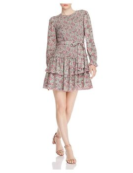 Camila Smocked Floral Dress by La Vie Rebecca Taylor