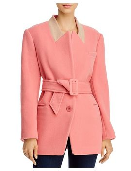 Plush Wool Blend Belted Coat by Rebecca Taylor