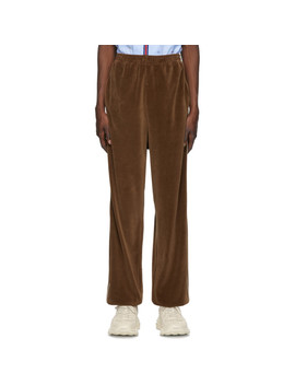 Brown Loose Chenille Lounge Pants by Gucci