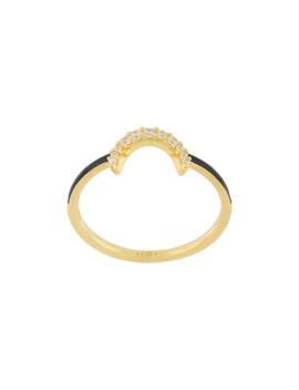 Crystal Embellished Ring by Eshvi