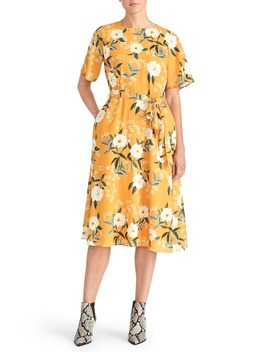 Floral Belted Dress by Rachel Roy Collection