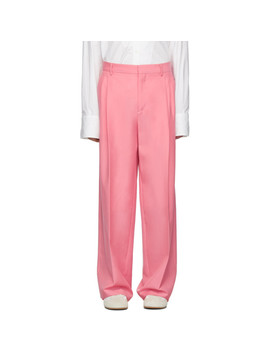 Pink Pleated Trousers by Loewe