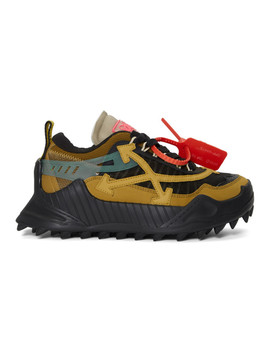 Black & Tan Odsy 1000 Sneakers by Off White