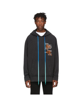 Black Pictogram Incompiuto Hoodie by Off White