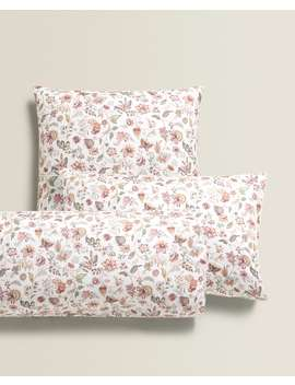 Floral Print Pillowcase New In by Zara Home