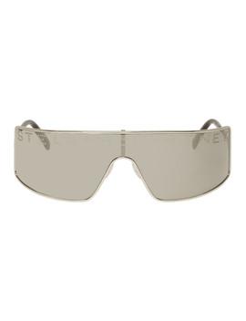 Silver Logo Shield Sunglasses by Stella Mccartney