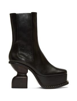 Black Platform 100 Boots by Loewe