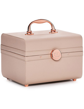 Beige Lifestyle Train Case by Caboodles