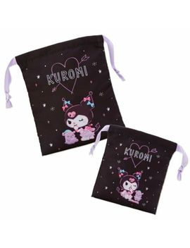 Kuromi & Baku Drawstring Pouch Night Sanrio Japan by Ebay Seller