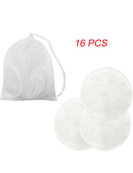 Uk 16 Pc Soft Bamboo Cotton Deep Cleansing Face Wipes Makeup Remover Pad Reusable by Ebay Seller