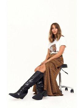 Spot Again Satin Maxi Skirt by Nasty Gal