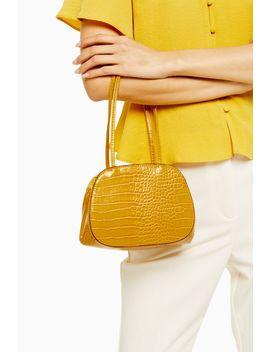 Shine Yellow Crocodile Mini Shoulder Bag by Topshop