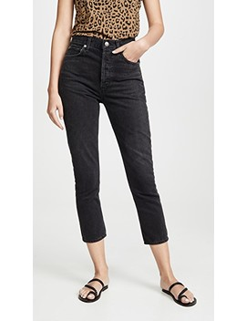 Double Pocket Riley Hi Rise Crop Jeans by Agolde