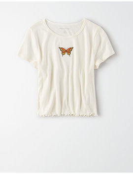 Ae Butterfly Graphic Baby T Shirt by American Eagle Outfitters