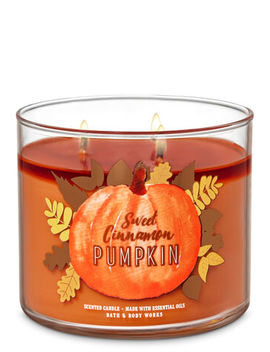Sweet Cinnamon Pumpkin\N\N\N3 Wick Candle    by Bath & Body Works