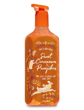 Sweet Cinnamon Pumpkin\N\N\N Deep Cleansing Hand Soap    by Bath & Body Works