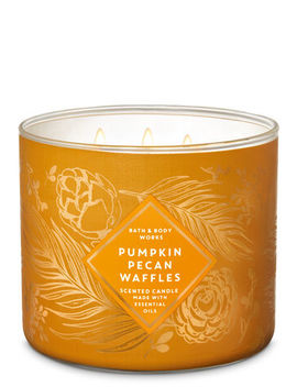 Pumpkin Pecan Waffles\N\N\N3 Wick Candle    by Bath & Body Works