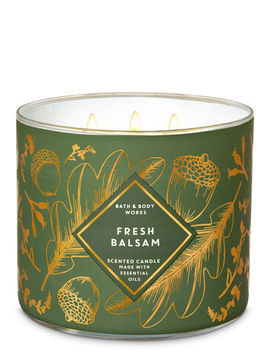Fresh Balsam\N\N\N3 Wick Candle    by Bath & Body Works