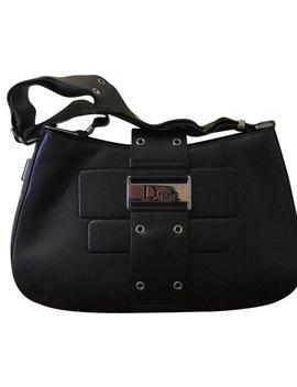 Key Pouch Reporter With Removable Black Leather Shoulder Bag by Dior