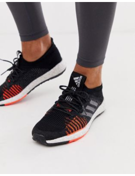 Adidas Running Pulse Boost Trainers In Black by Adidas