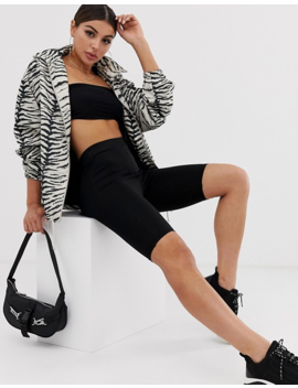 Asos Design Zebra Print Lightweight Jacket by Asos Design
