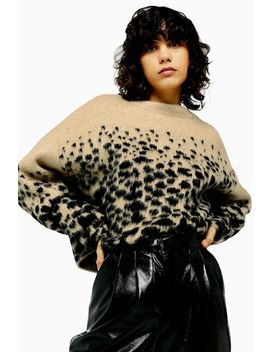 Knitted Snake Pattern Jumper by Topshop