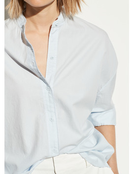 Oversized Raw Edge Button Down by Vince