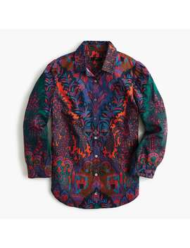 Puff Sleeve Button Down In Ratti® Scarf Paisley by Puff Sleeve Button Down In Ratti