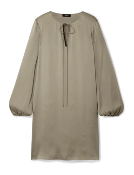 Silk Satin Dress by Theory