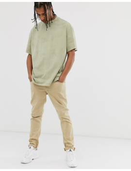 Weekday Great T Shirt With In Light Khaki Tie Dye by Weekday